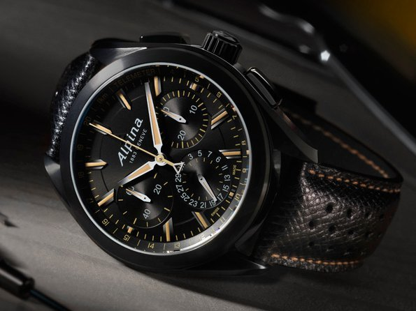 "Alpina - ""Full Black"" Alpiner 4 Manufacture Flyback Chronograph"