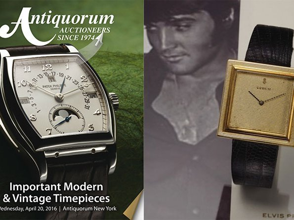 "Antiquorum Auctioneers - April 20th auction of ""Important Modern & Vintage Timepieces"""