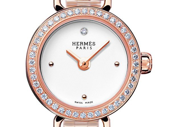Hermès - Montre Faubourg, or rose
