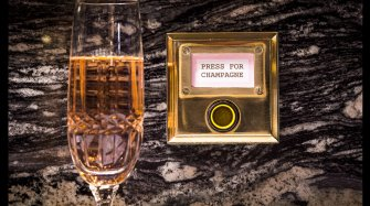 But the champagne's not in the glass – it's under it! Trends and style