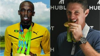 Usain Bolt & Justin Rose, gold and records