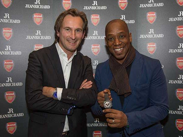 Jeanrichard - Ian Wright helps launch special Arsenal watch and clock set
