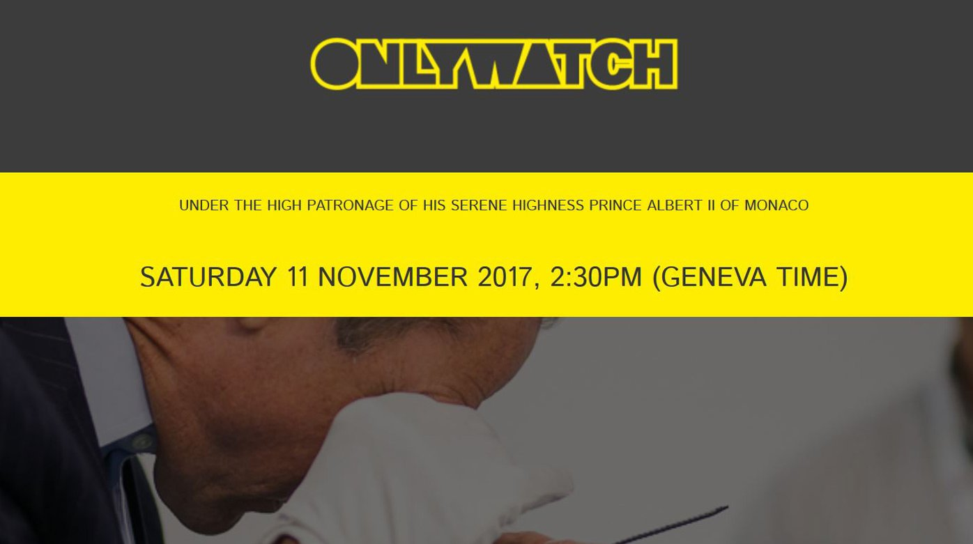Only Watch 2017 - All the watches