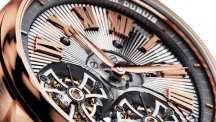 Hommage Double Tourbillon Volant guilloché main, or rose