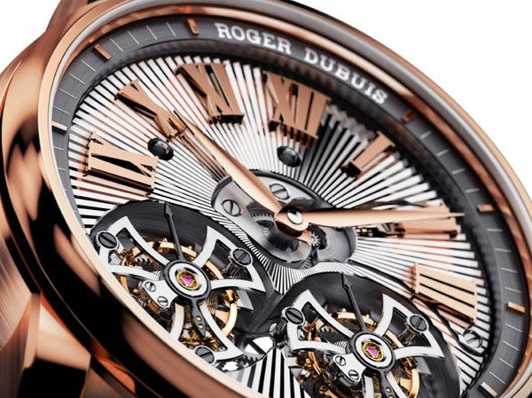 Roger Dubuis - Hommage Double Tourbillon Volant guilloché main, or rose