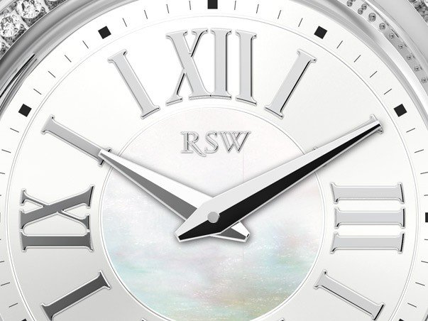 RSW - Ladyland, steel, white dial