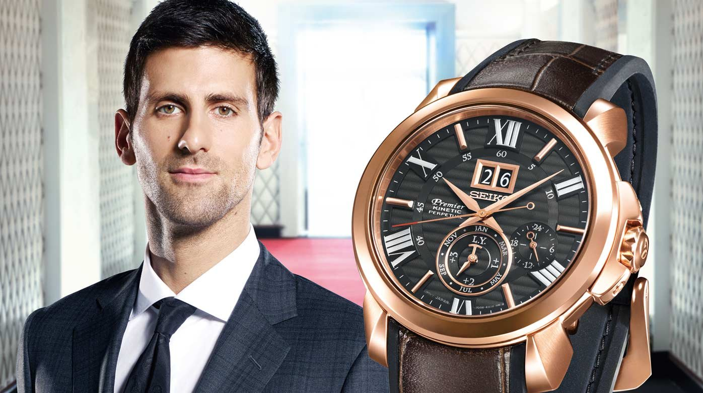 Seiko nouvelle montre premier pour novak djokovic style tendance worldtempus for Celebrity seiko watch