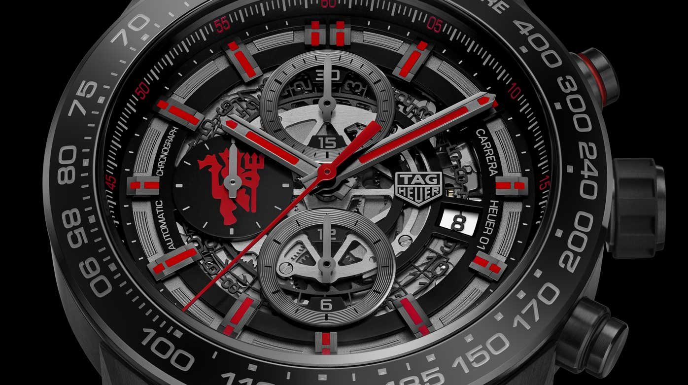 TAG Heuer - Carrera Calibre Heuer-01 Chronographe Manufacture Manchester United Edition Spéciale