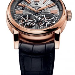 Hommage Double Flying Tourbillon, pink gold  © Roger Dubuis