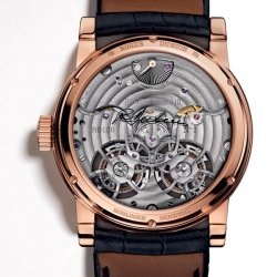 Hommage Double Flying Tourbillon, pink gold, back  © Roger Dubuis