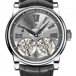 Hommage Double Flying Tourbillon, white gold  © Roger Dubuis