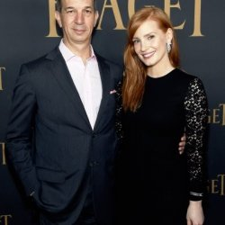 Jessica Chastain et Philippe Leopold Metzger, CEO de Piaget © Stefanie Keenan/Getty Images for Piaget
