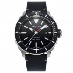 Alpina Seastrong Diver 300 with black bezel (ref. AL-525LGG4V6) © Alpina