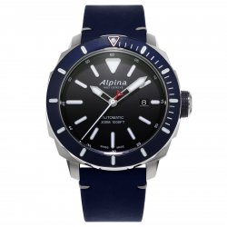 Alpina Seastrong Diver 300 with blue bezel (ref. AL-525LBN4V6) © Alpina