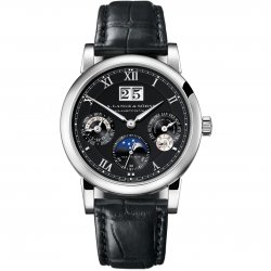 Langematik Perpetual, white gold and black dial.  © A. Lange & Söhne