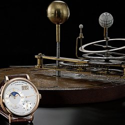 Grand Lange 1 Moon Phase in front of a tellurion, William and Samuel Jones (London ca. 1800)  © A. Lange & Söhne