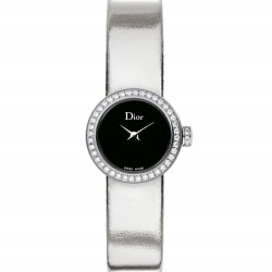 Mini D de Dior Miroir, white gold colour strap. © Dior