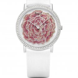 Altiplano Rose, micro-pointillism embroidery.  © Piaget