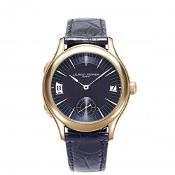 The Galet Traveller, pink gold case and midnight blue dial © Laurent Ferrier