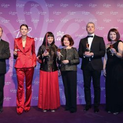 Glashütte Original - Event in Beijing to launch the Pavonina collection. Yann Gamard, Mary Ma, Yanling Ma, Susan Chan, Dieter Pachner, Linda Wan and Wolfgang Lackner.