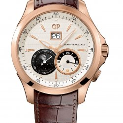 Traveller Grande Date, Phases de lune & GMT, or rose, cadran coquille d'oeuf, réf. 49655-52-131-BB6A     © Girard-Perregaux