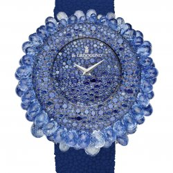 Grappoli set with blue sapphires