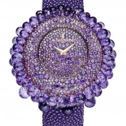 Grappoli set with amethysts