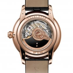 Petite Heure Minute Relief Goats, red gold, ref. J005023278, back.  © Jaquet Droz