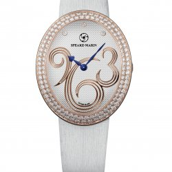 Shenandoah, ref. SH38SR02 - D.  Case and bezel in 18k red gold. 122 brillants-cut diamonds (1.70 cts). Dial with red gold Arabic numbers with 3 brillant-cut diamonds. Satin strap.