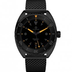 Super KonTiki Black Limited Edition black milanese bracelet © Eterna