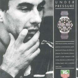 The 1991 ad campaign © TAG Heuer
