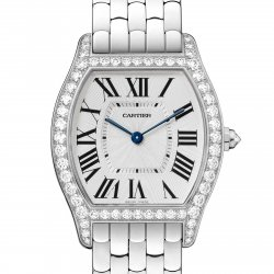 Tortue watch, medium, white gold and diamonds © Cartier