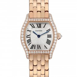 Tortue watch, small model, pink gold and diamonds © Cartier