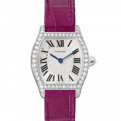Tortue watch, small model, white gold and diamonds © Cartier