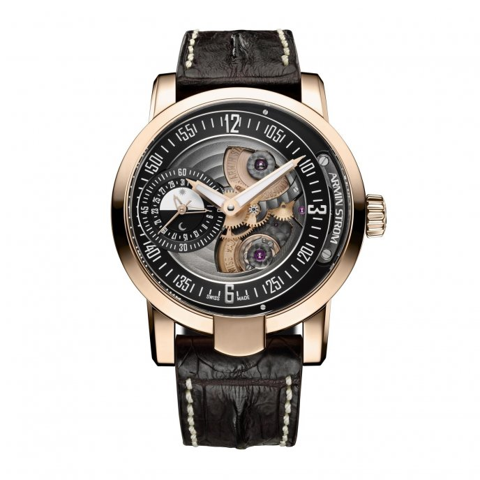 Armin Strom Gravity Date Water RG14-DF.90 - watch face view