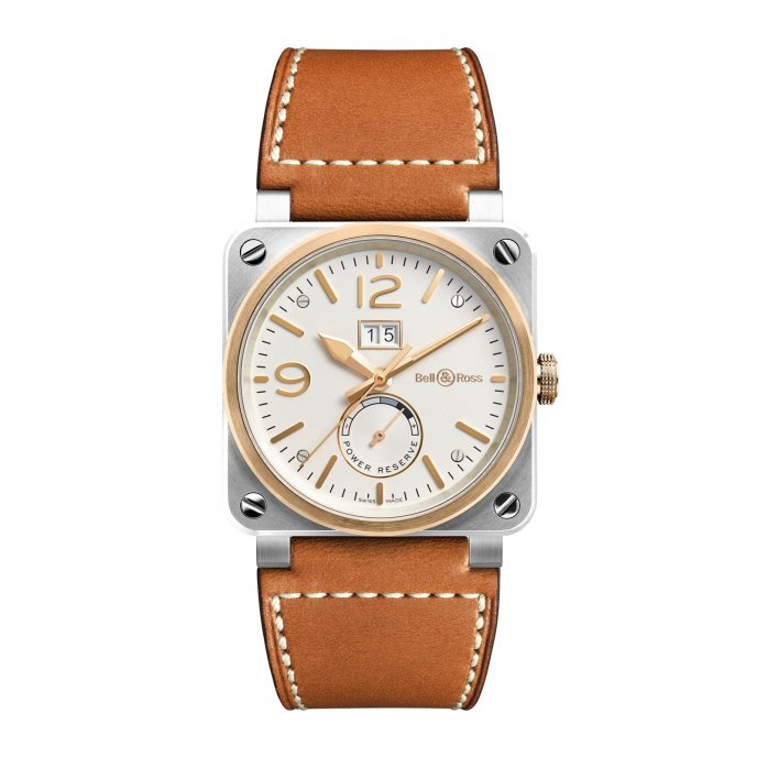 Bell and Ross BR 03 Steel Gold Watch-face-view