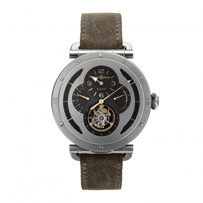Bell & Ross Aviation WW2 Tourbillon Military - face view closed