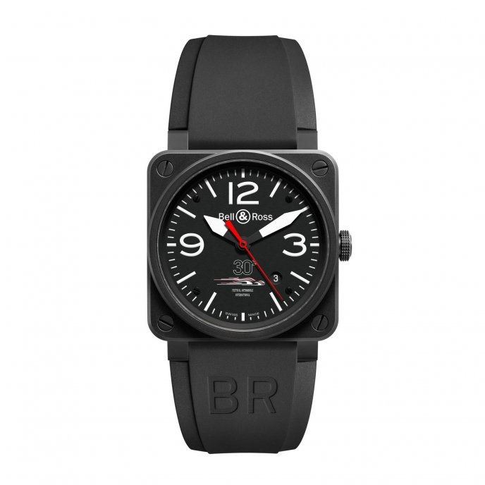 Bell & Ross BR-03 Festival Automobile International édition limitée BR03-92-FA-CA watch face view