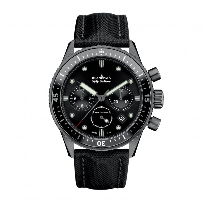 Blancpain Bathyscaphe Flyback Chronograph watch-face-view