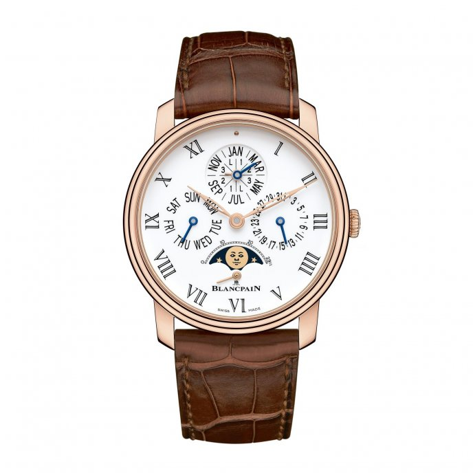 Blancpain Villeret Quantieme Perpetuel 8 Jours Or Rose Watch-face-view