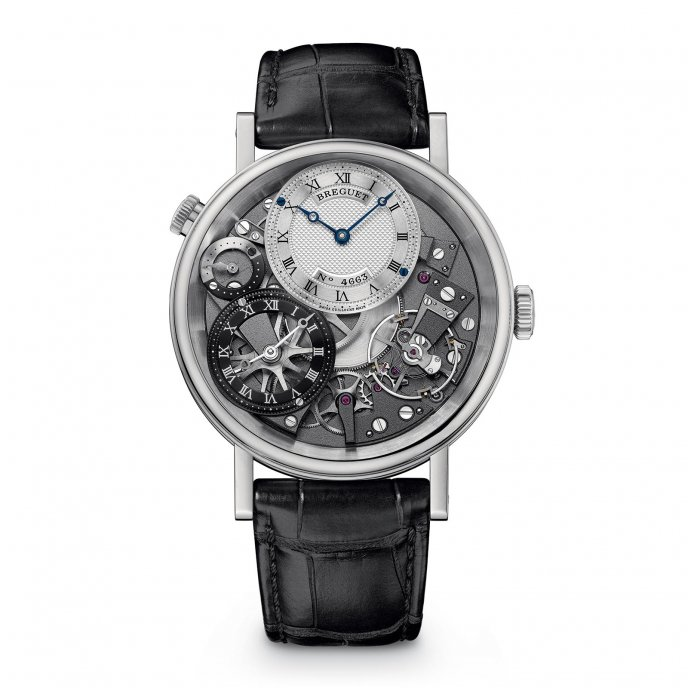 Breguet Tradition GMT 7067BB/G1/9W6 watch face view