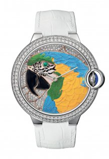 Floral-Marquetry Parrot watch