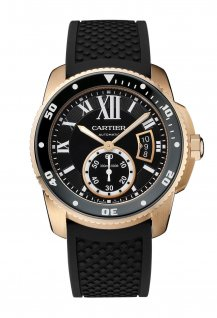 Calibre de Cartier Diver watch in pink gold
