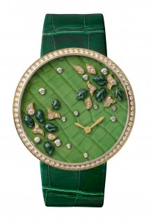 Montre broche Les Indomptables de Cartier, décor crocodile