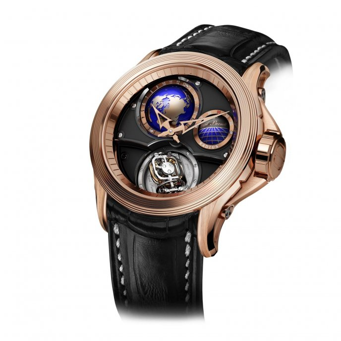 Cecil Purnell Rendez-Vous V17 World Time Bi-Axial Tourbillon - watch face view