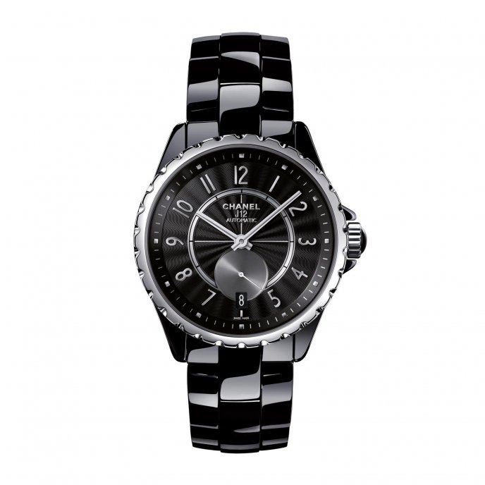 Chanel J12 365 Blac Silver Watch-face-view
