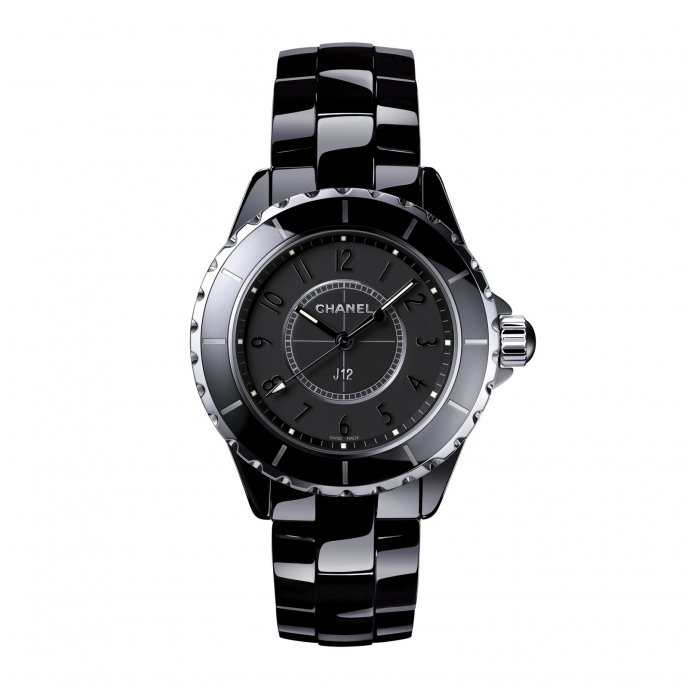 Chanel J12 Noire J12 Intense Black 33mm - watch face view