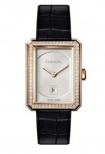 Beige gold small model with diamonds