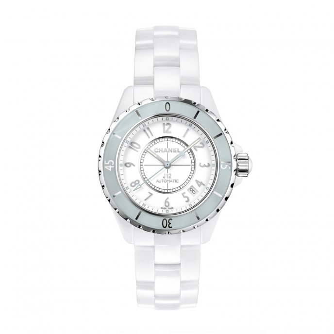 Chanel J12 Soft Mint watch face view