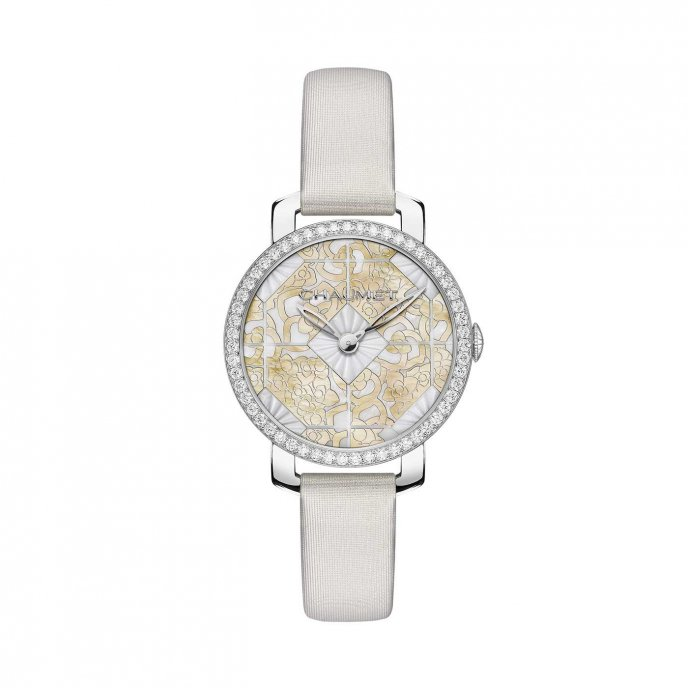 Chaumet Hortensia or blanc watch face view